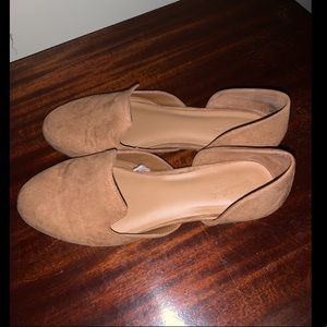 Suede loafers/flats